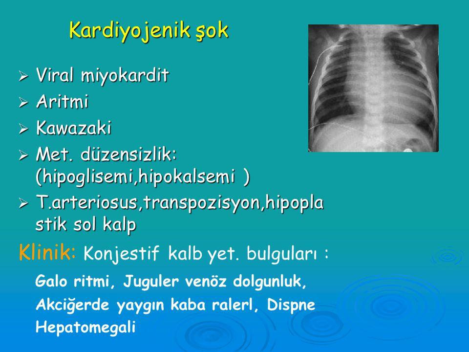 Hipovolemik şok: Toplam kan hacmi (sıvı-protein)azalmıştır  Sıvı kaybı : Kusma-ishal, Güneş çarpması, Glikozüri  Kanama : Travma, GİS, Kafa içi kana