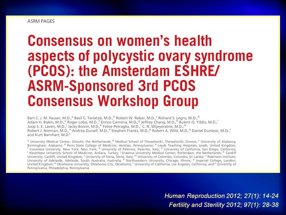 3 rd Consensus Workshop, Amsterdam, 2012 T2DM: ● PCOS, bozulmuş glukoz toleransı (BGT) ve T2DM gelişiminde majör risk faktörüdür (Level A).