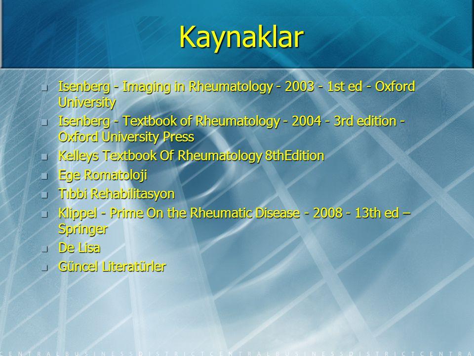Kaynaklar Isenberg - Imaging in Rheumatology - 2003 - 1st ed - Oxford University Isenberg - Imaging in Rheumatology - 2003 - 1st ed - Oxford Universit