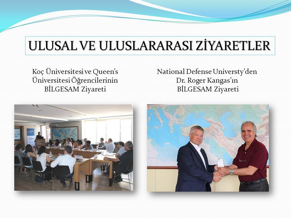 Koç Üniversitesi ve Queen's Üniversitesi Öğrencilerinin BİLGESAM Ziyareti National Defense Universty'den Dr. Roger Kangas'ın BİLGESAM Ziyareti ULUSAL