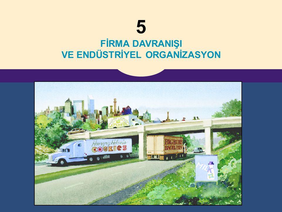 5 FİRMA DAVRANIŞI VE ENDÜSTRİYEL ORGANİZASYON