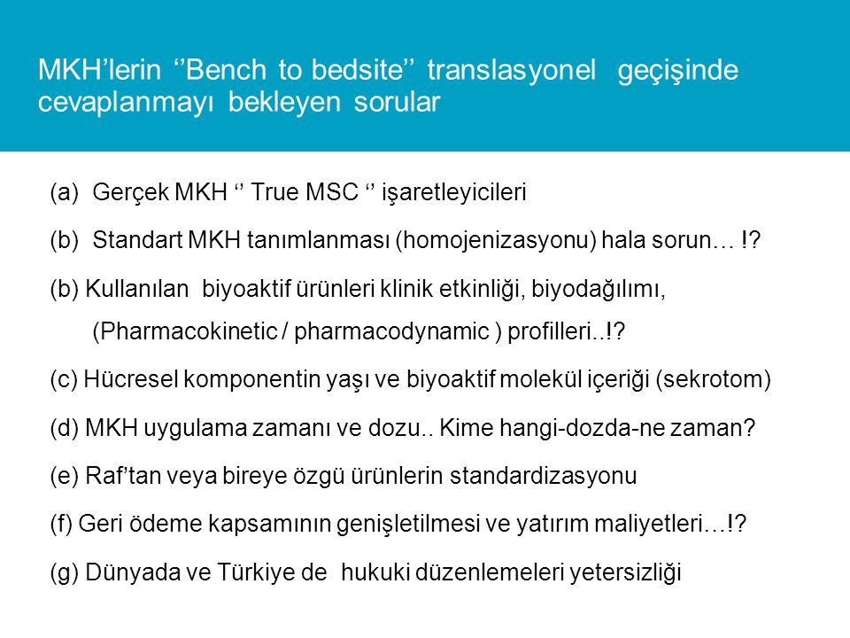(a)Gerçek MKH '' True MSC '' işaretleyicileri (b)Standart MKH tanımlanması (homojenizasyonu) hala sorun… !.