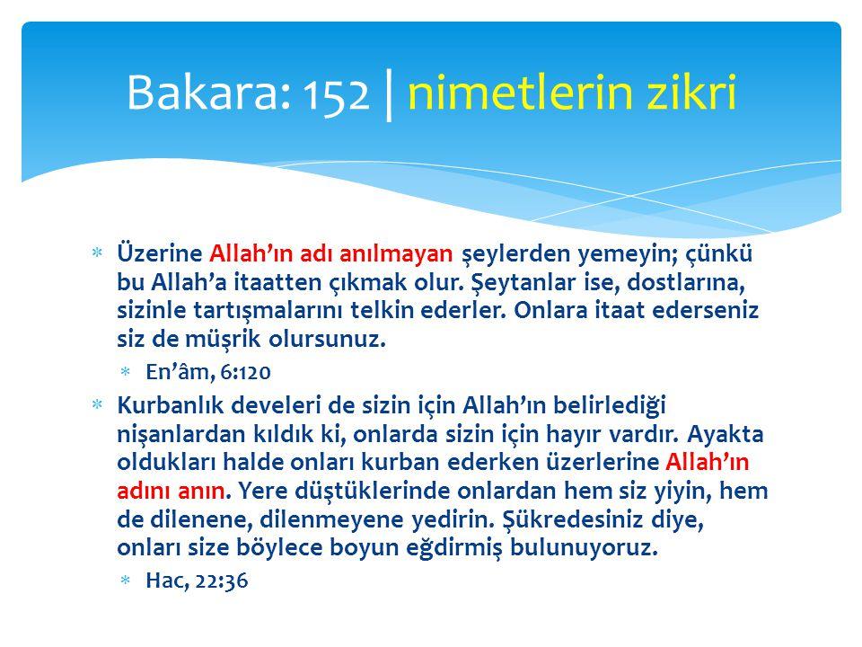  Üzerine Allah'ın adı anılmayan şeylerden yemeyin; çünkü bu Allah'a itaatten çıkmak olur. Şeytanlar ise, dostlarına, sizinle tartışmalarını telkin ed