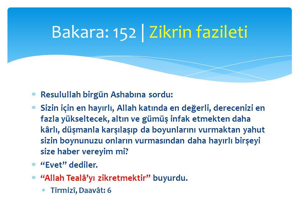  Resulullah birgün Ashabına sordu:  Sizin için en hayırlı, Allah katında en değerli, derecenizi en fazla yükseltecek, altın ve gümüş infak etmekten