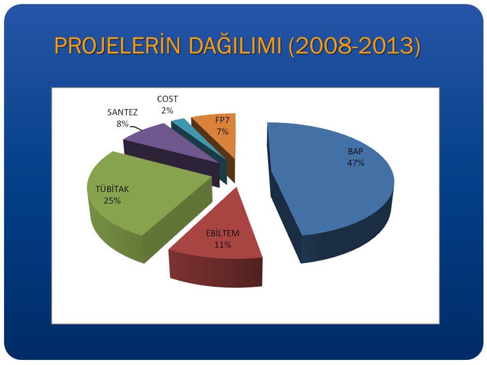 PROJELERİN DAĞILIMI (2008-2013)