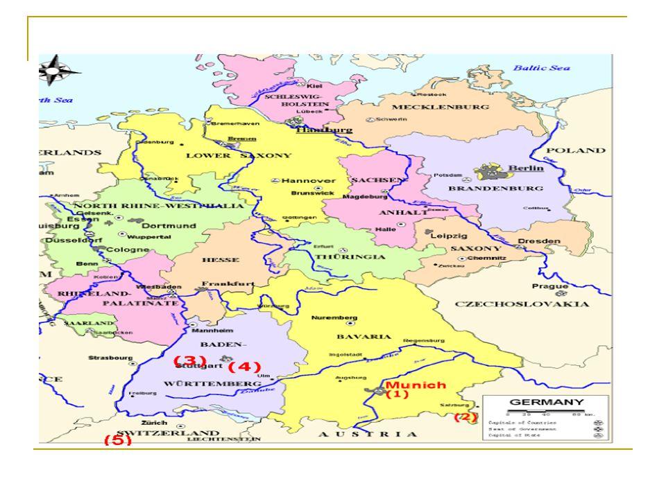 YERŞEKİLLERİ ; Almanya nın yeryüzü şekilleri üç kısımda incelenebilir.