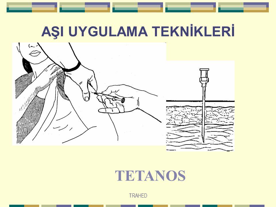 TRAHED AŞI UYGULAMA TEKNİKLERİ TETANOS