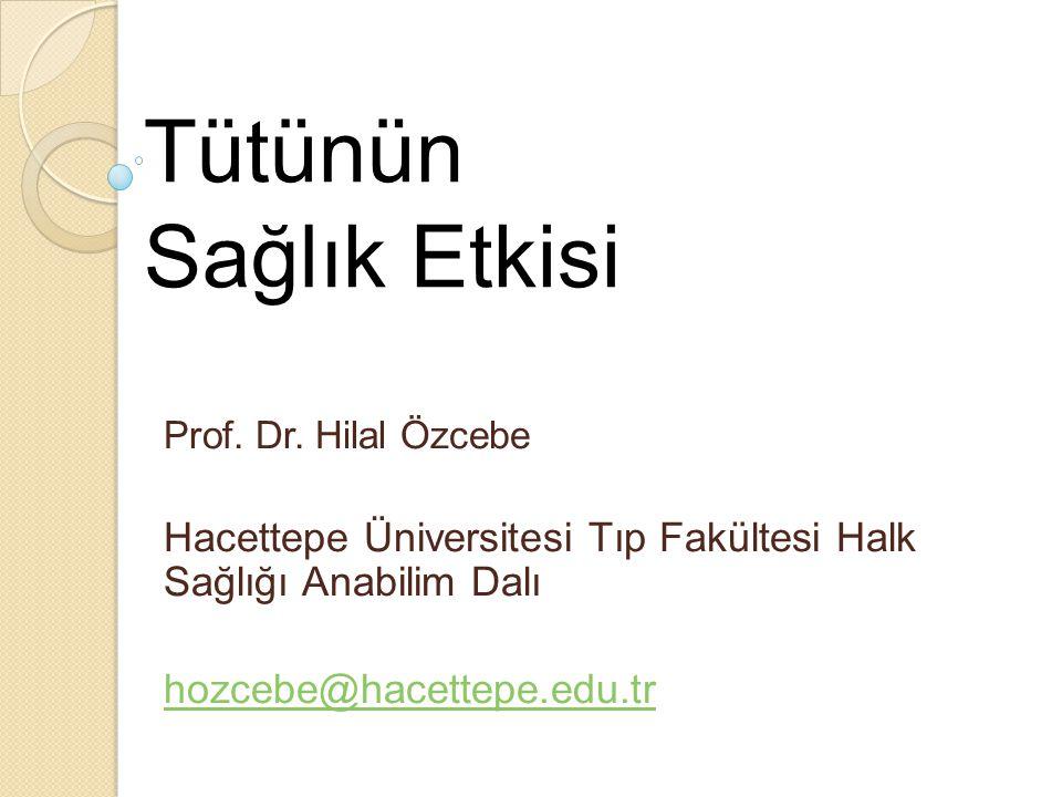 Tütünün Sağlık Etkisi Prof.Dr.