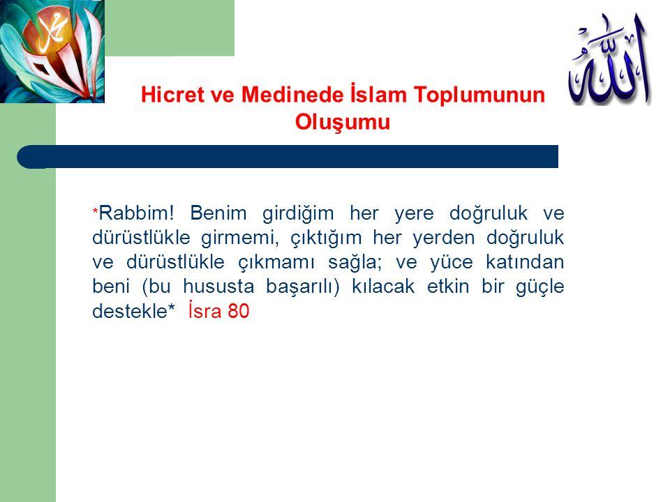 Hicret ve Medinede İslam Toplumunun Oluşumu Hicret (20 Eylül 622) Sözlükte Terketmek, Ayrılmak, Bir yeri terk ederek başka bir yere göç etmek anlamına gelir.