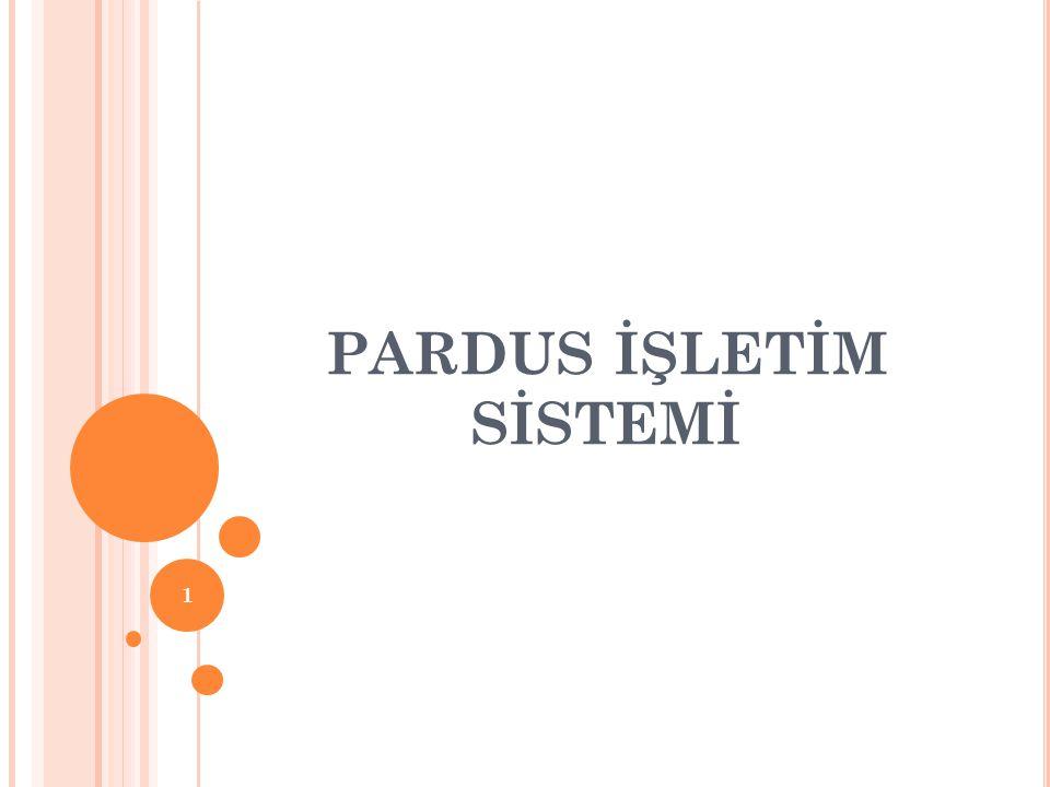 PARDUS İŞLETİM SİSTEMİ 1
