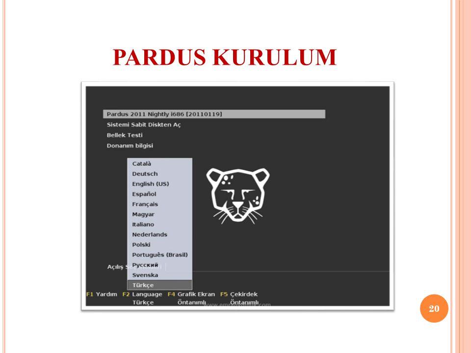 PARDUS KURULUM 20