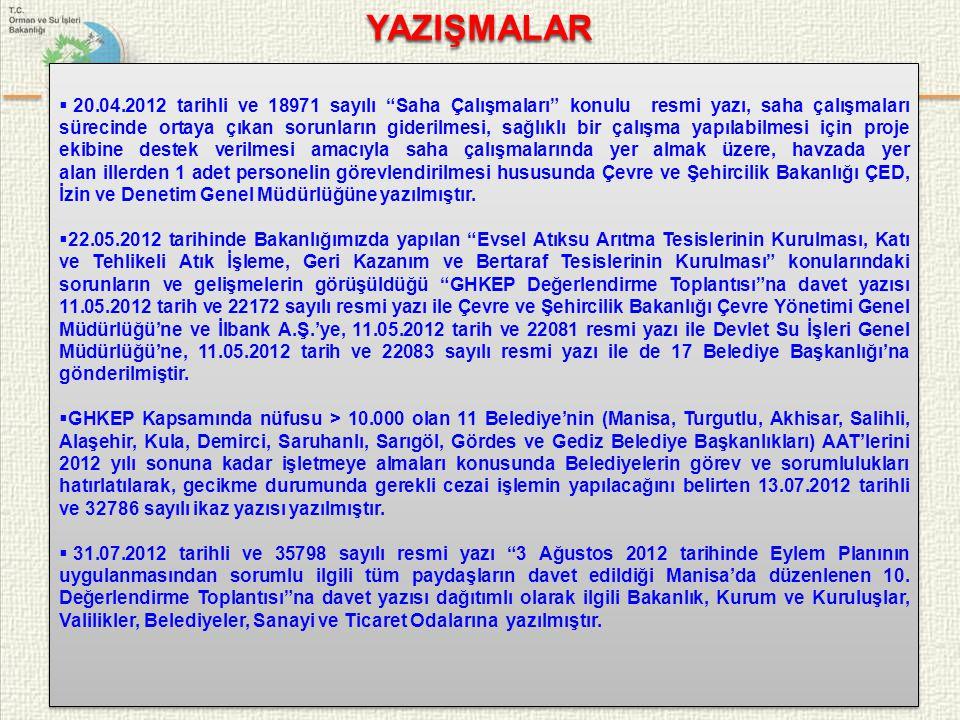 """29/45  20.04.2012 tarihli ve 18971 sayılı """"Saha Çalışmaları"""" konulu resmi yazı, saha çalışmaları sürecinde ortaya çıkan sorunların giderilmesi, sağlı"""