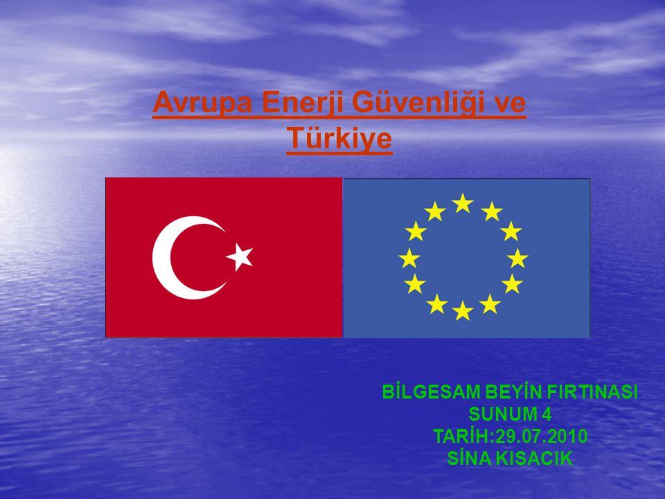 Avrupa Enerji Güvenliği ve Türkiye BİLGESAM BEYİN FIRTINASI SUNUM 4 TARİH:29.07.2010 SİNA KISACIK