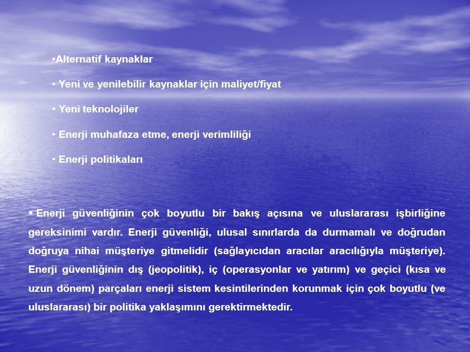 SONUÇ (DEVAM) Türkiye, Avrupa Birliği'nin enerji kaynaklarını temin ettiği ve gelecekte temin etmeyi planladığı bölgelere coğrafi açıdan bir yakınlığa sahip olup bu bölgelerdeki ülkelerin büyük çoğunluğuyla da her açıdan iyi ilişkilere sahiptir.