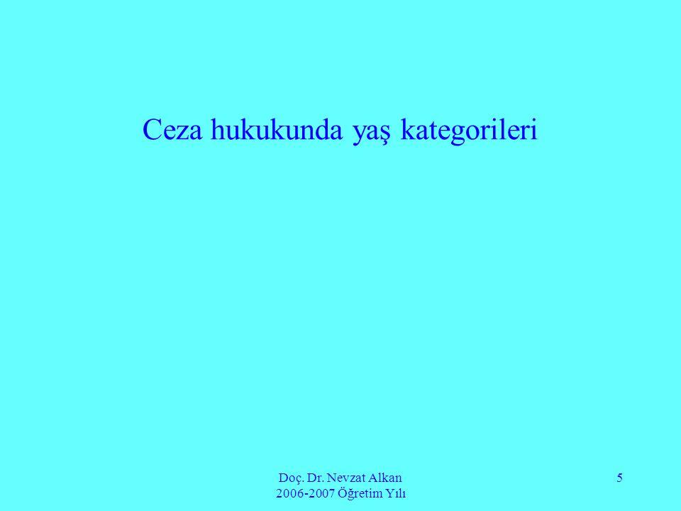Doç.Dr. Nevzat Alkan 2006-2007 Öğretim Yılı 26 C.