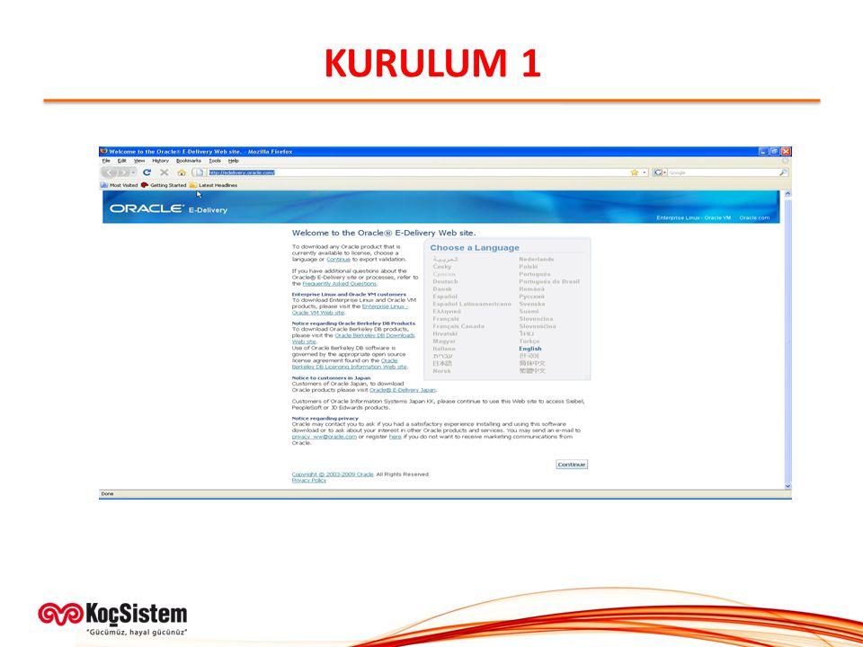 KURULUM 1