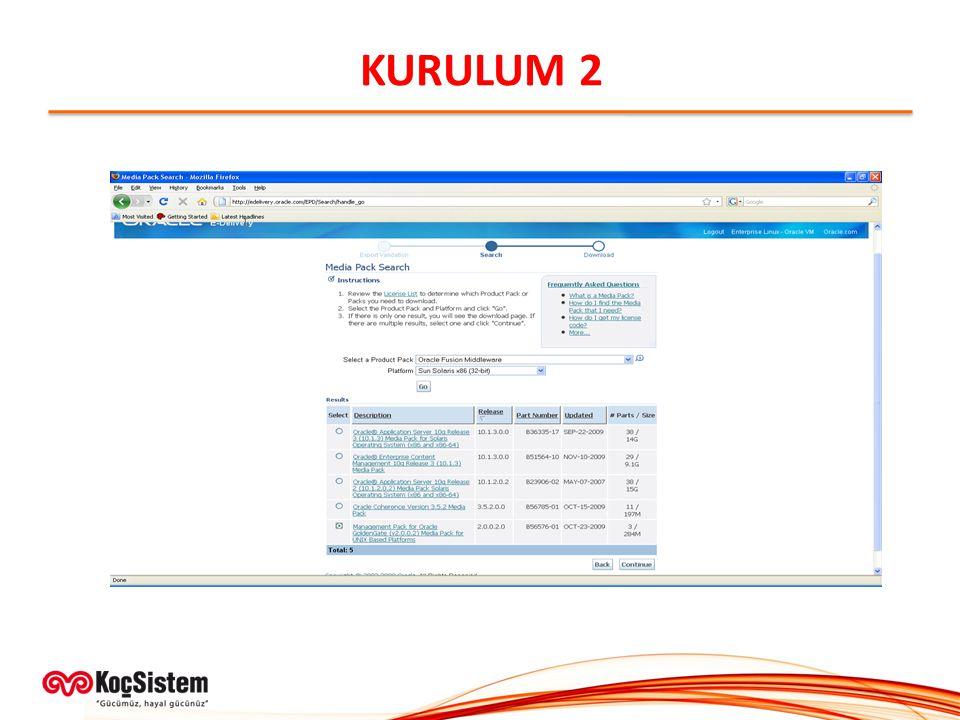 KURULUM 2