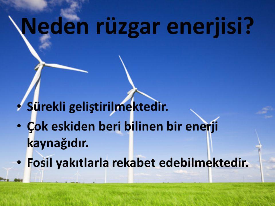 Neden rüzgar enerjisi.Sürekli geliştirilmektedir.