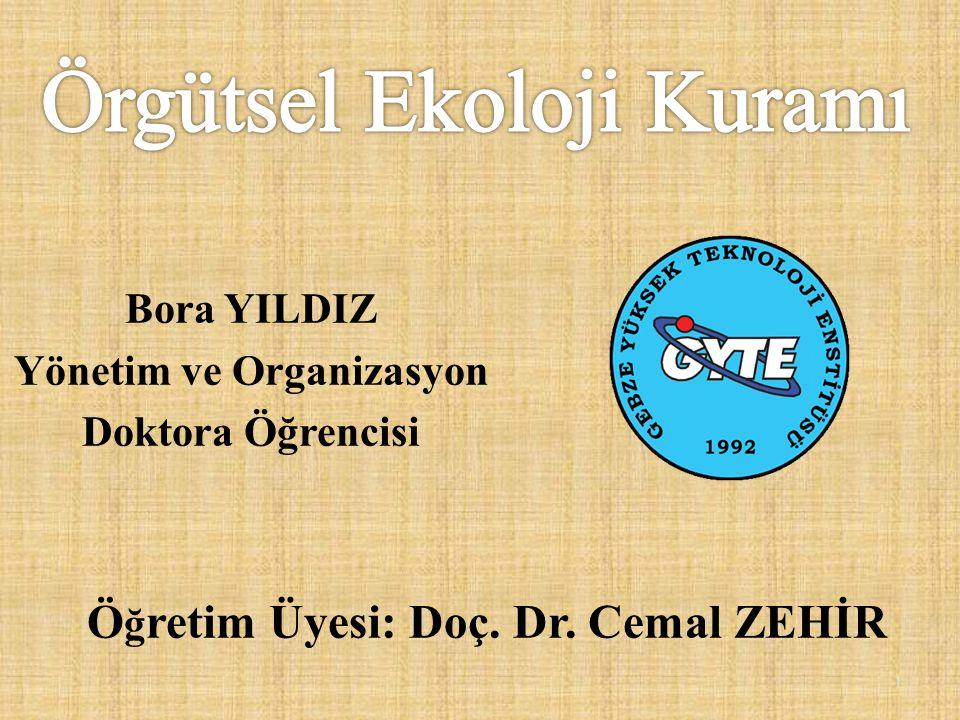 Ö ğ retim Üyesi: Doç. Dr. Cemal ZEHİR Bora YILDIZ Yönetim ve Organizasyon Doktora Öğrencisi 1