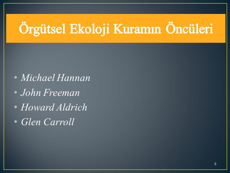 Michael Hannan John Freeman Howard Aldrich Glen Carroll 3