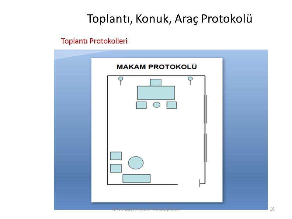 Toplantı, Konuk, Araç Protokolü Toplantı Protokolleri Toplantı Protokolleri İdris Düzcan Maarif Müfettişi İzmir16