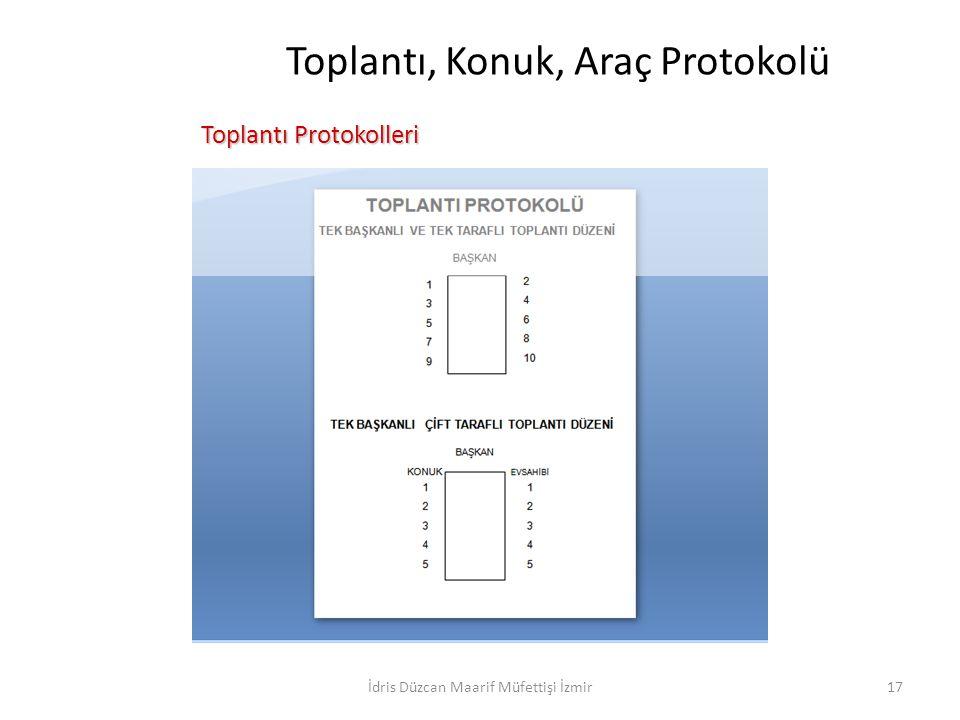 Toplantı, Konuk, Araç Protokolü Toplantı Protokolleri Toplantı Protokolleri İdris Düzcan Maarif Müfettişi İzmir17