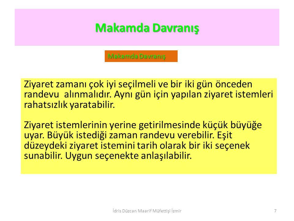 Toplantı, Konuk, Araç Protokolü Toplantı Protokolleri Toplantı Protokolleri İdris Düzcan Maarif Müfettişi İzmir18