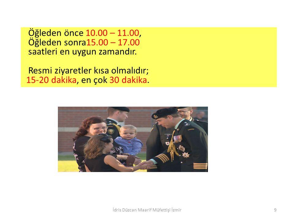 Toplantı, Konuk, Araç Protokolü Toplantı Protokolleri Toplantı Protokolleri İdris Düzcan Maarif Müfettişi İzmir20