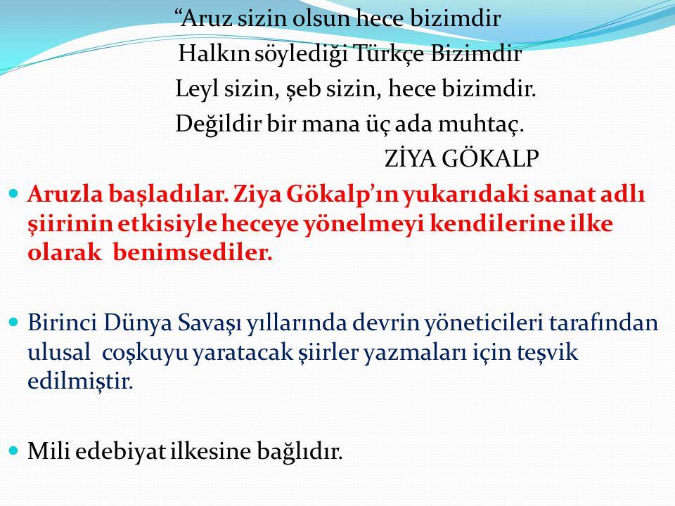 ZEKİ ÖMER DEFNE (1903 - 1992) Anadolu yu şiirlerinin ana teması olarak aldı.