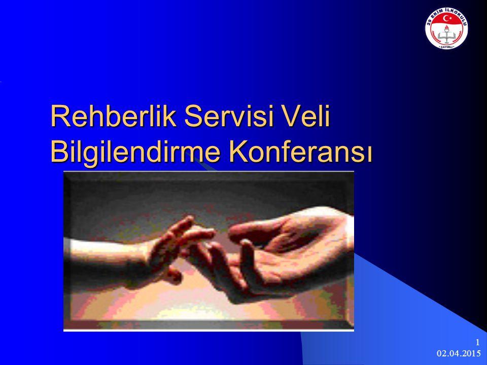02.04.2015 1 Rehberlik Servisi Veli Bilgilendirme Konferansı