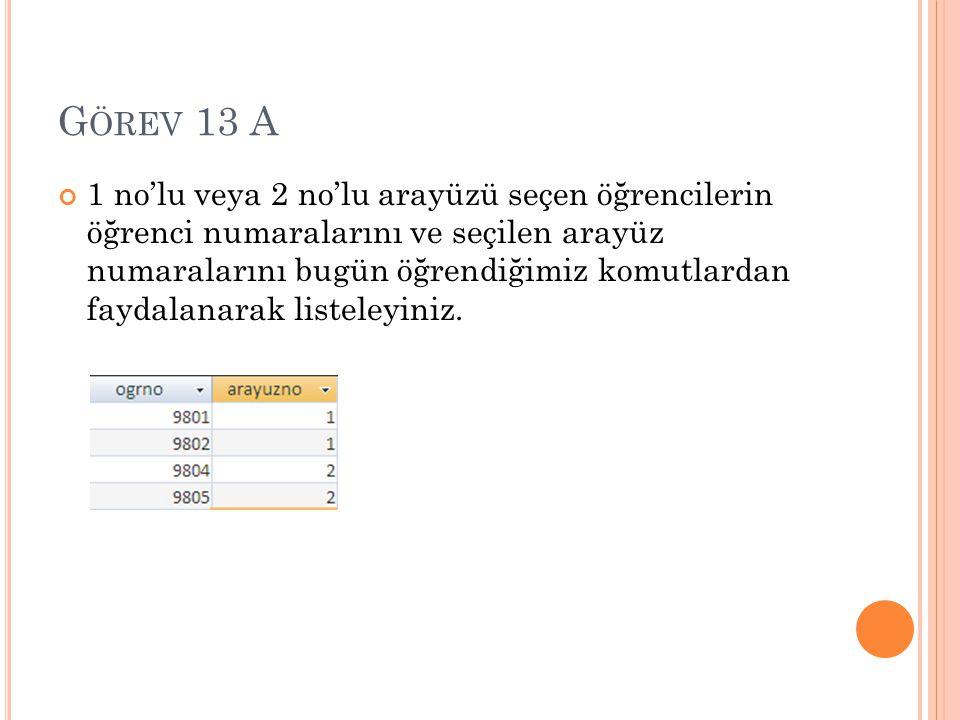 G ÖREV 13 B Tartışma bölümündeki tüm sorulara verilen toplam puanı hesaplayınız.