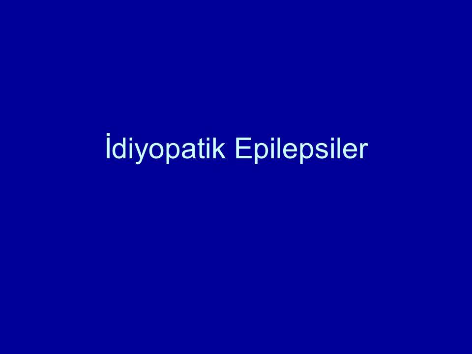 Epilepsi sendromu Etiyoloji Epilepsi sendromunda klinik, EEG, prognoz, tedaviye yanıt benzer özelliktedir Etiyolojiler FARKLIDIR Epilepsiler etiyolojik özelliklerine göre idiyopatik, kriptojenik (olası semptomatik, nedeni saptanamamış) ve semptomatik (nedeni saptanmış) olmak üzere 3 ana grupta toplanmaktadır.
