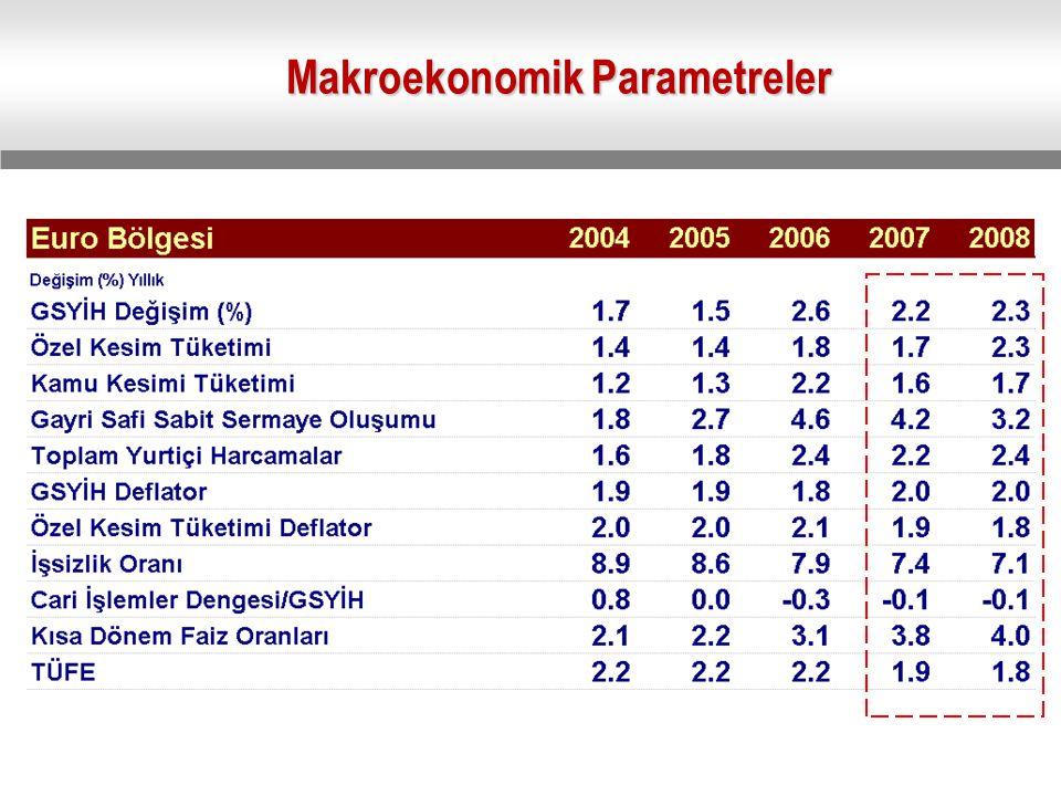 Makroekonomik Parametreler