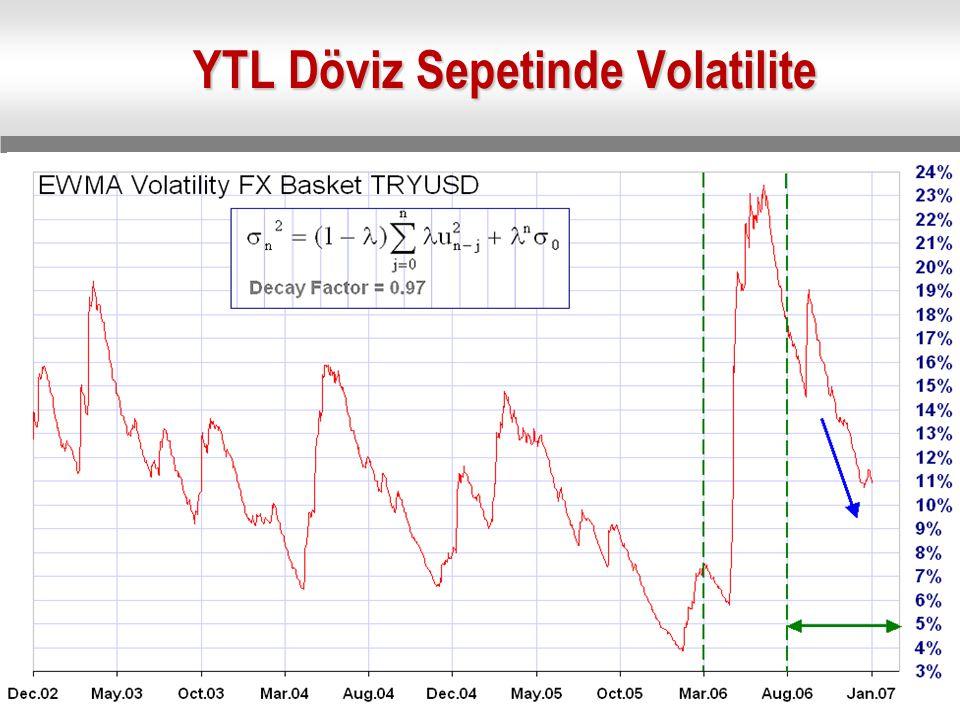 YTL Döviz Sepetinde Volatilite