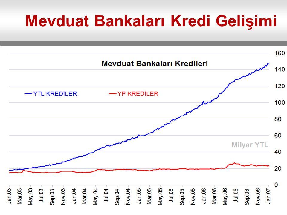 Mevduat Bankaları Kredi Gelişimi