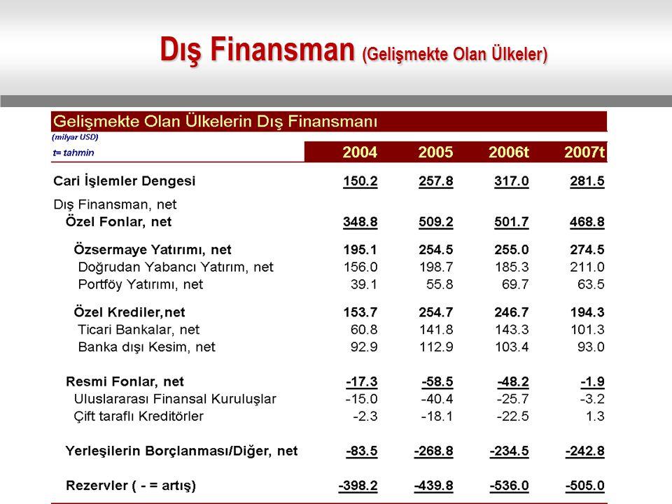 Dış Finansman (Gelişmekte Olan Ülkeler)