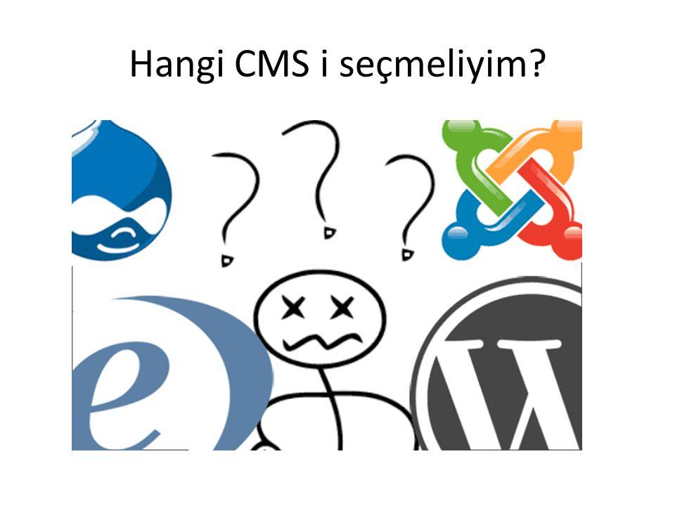 Hangi CMS i seçmeliyim?