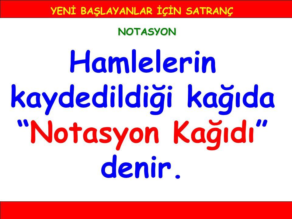 YENİ BAŞLAYANLAR İÇİN SATRANÇ NOTASYON 2-... a6 8 7 6 5 4 3 2 1 ABCDEFGH
