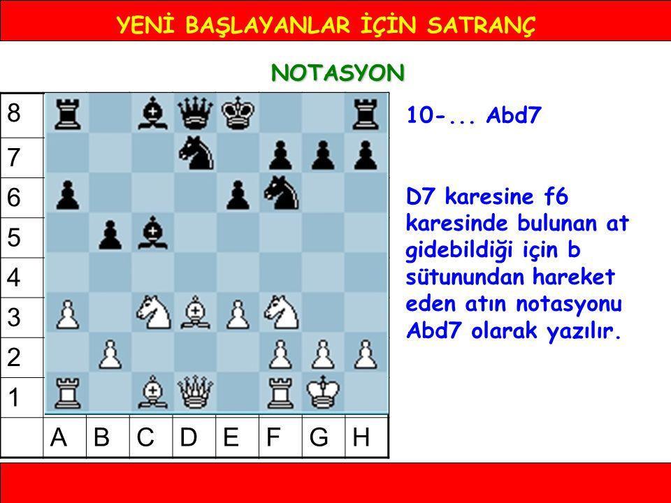 YENİ BAŞLAYANLAR İÇİN SATRANÇ NOTASYON 10-...