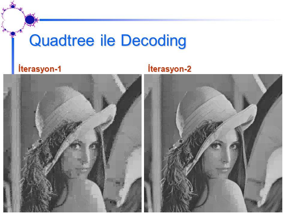 Quadtree ile Decoding İterasyon-1İterasyon-2
