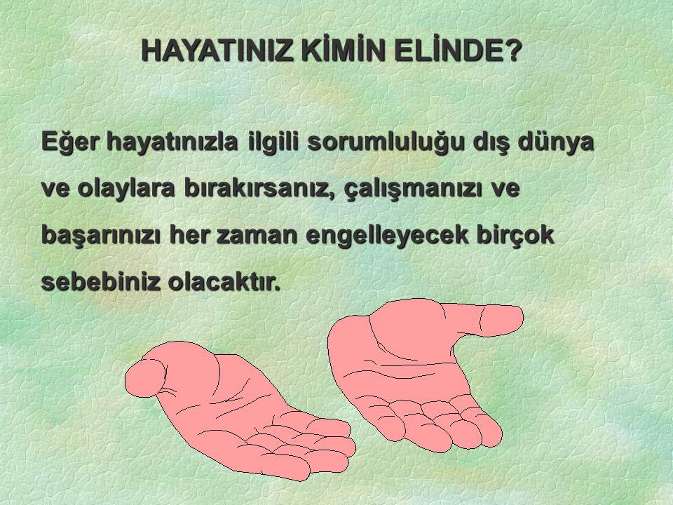 HAYATINIZ KİMİN ELİNDE.