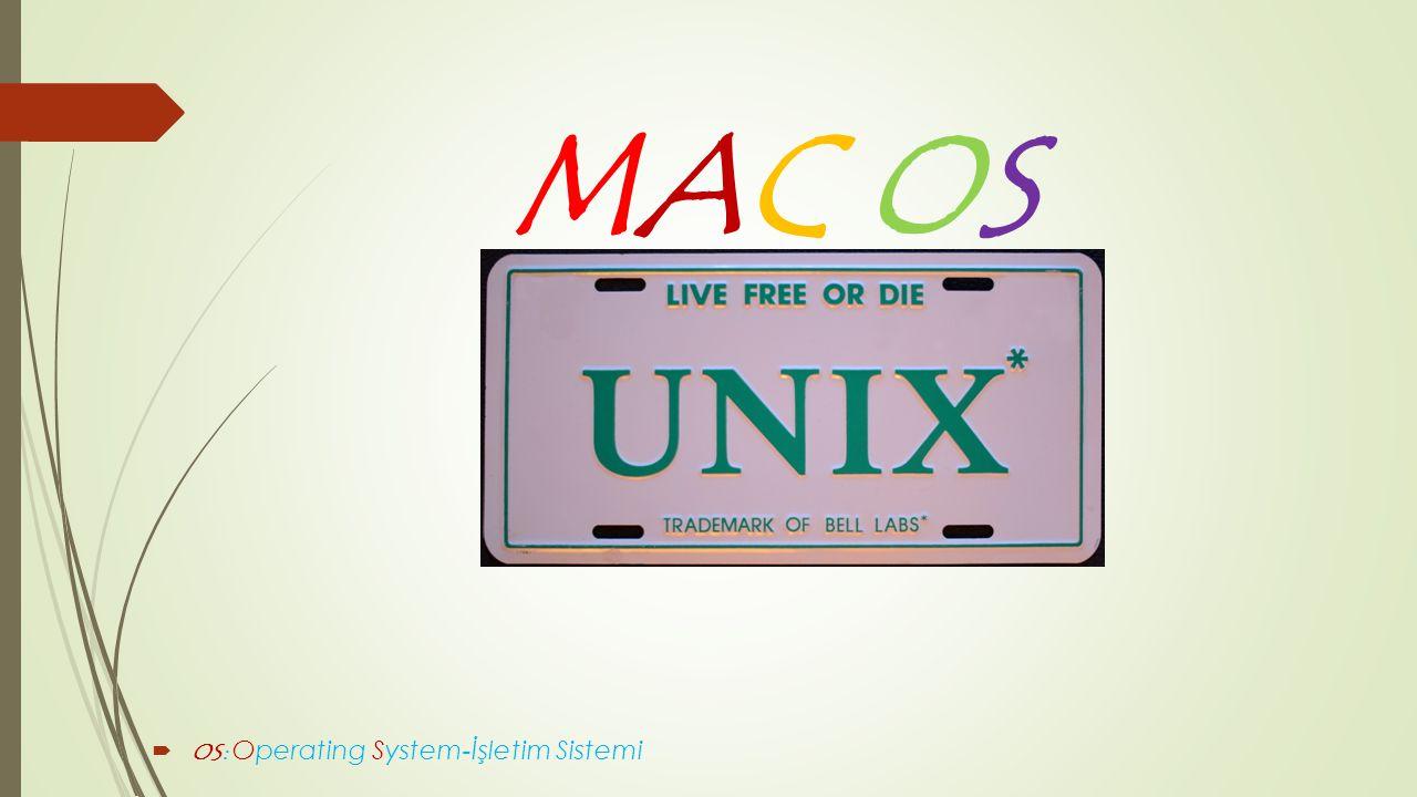 MAC OS  OS: Operating System-İşletim Sistemi