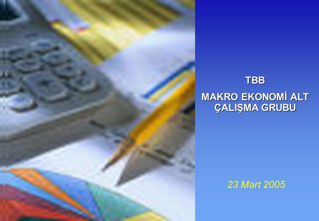 23 Mart 2005 TBB MAKRO EKONOMİ ALT ÇALIŞMA GRUBU