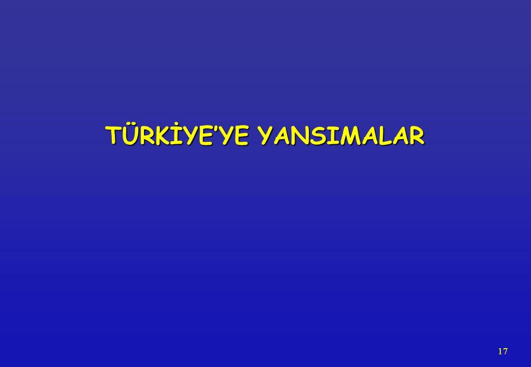 17 TÜRKİYE'YE YANSIMALAR
