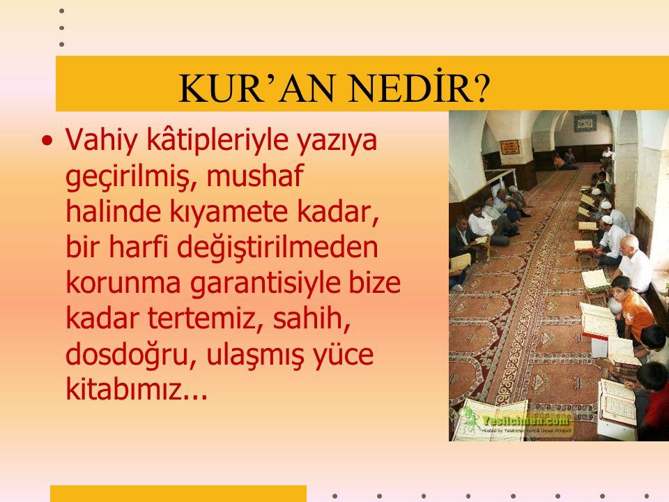 KUR'AN ANLAMAK VE YAŞAMAK İÇİN GÖNDERİLMİŞTİR. www.sunumvaaz.com