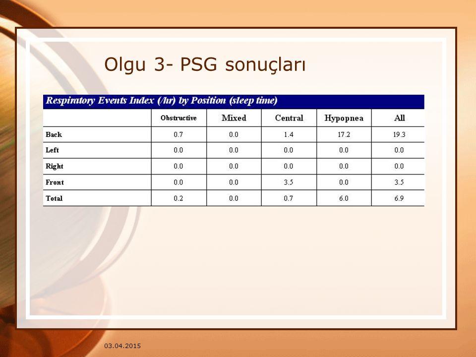 03.04.2015 Olgu 3- PSG sonuçları