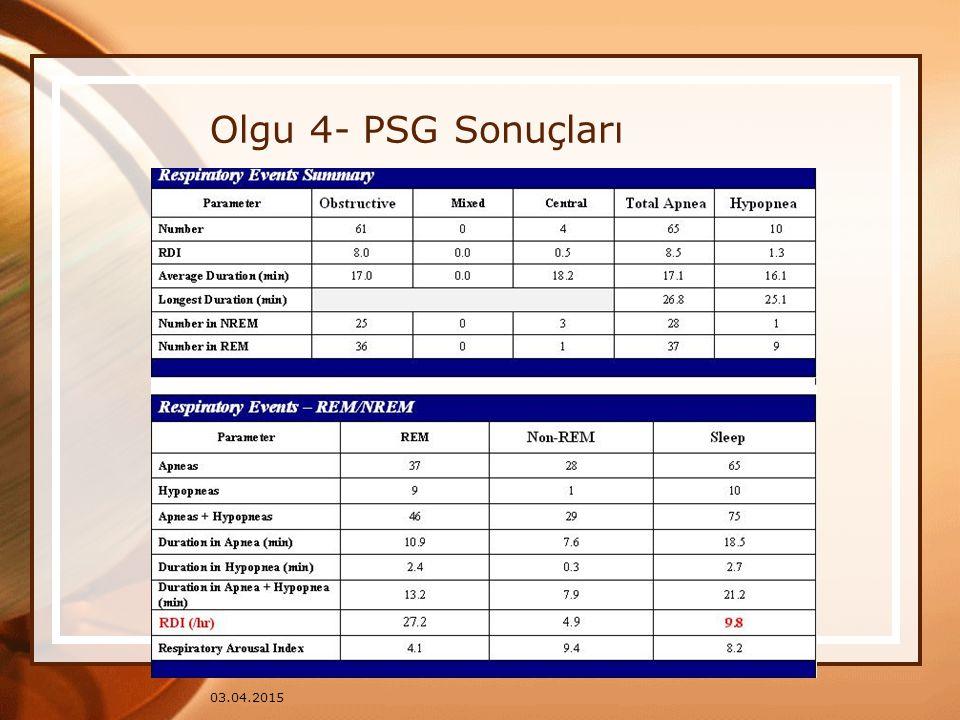 03.04.2015 Olgu 4- PSG Sonuçları
