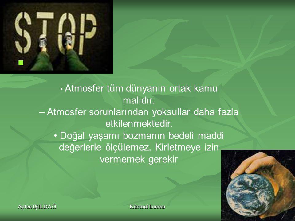 Ayten IŞILDAĞKüresel Isınma21 Atmosfer tüm dünyanın ortak kamu malıdır.
