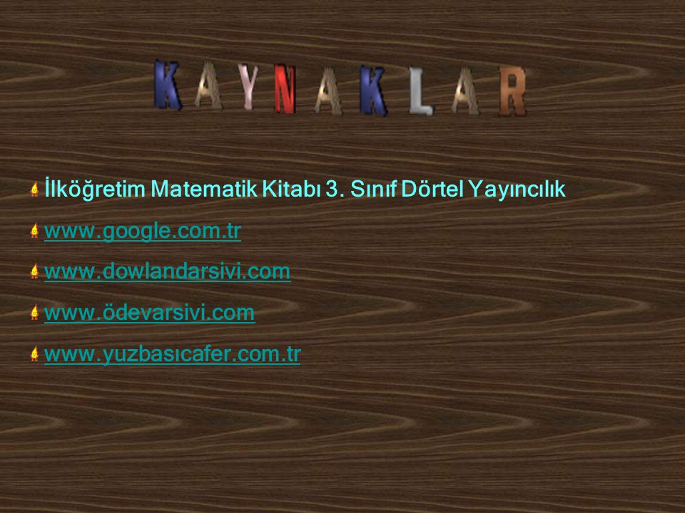 İlköğretim Matematik Kitabı 3. Sınıf Dörtel Yayıncılık www.google.com.tr www.dowlandarsivi.com www.ödevarsivi.com www.yuzbasıcafer.com.tr