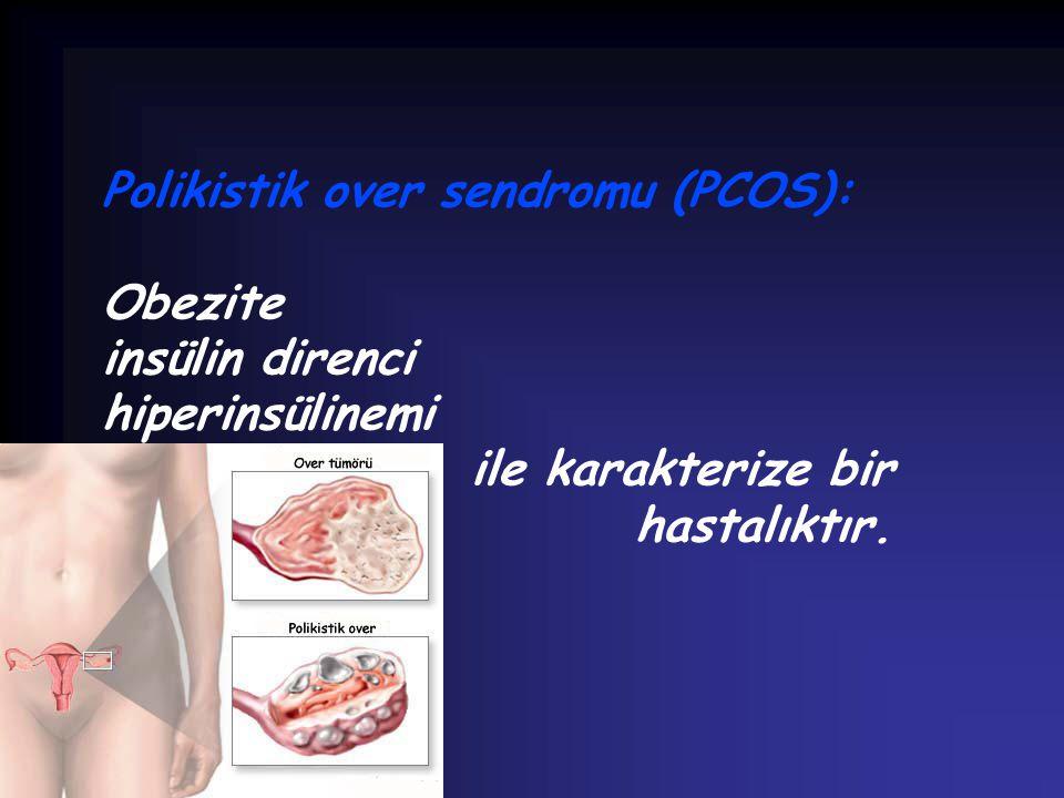 Polikistik over sendromu (PCOS): Obezite insülin direnci hiperinsülinemi ile karakterize bir hastalıktır.